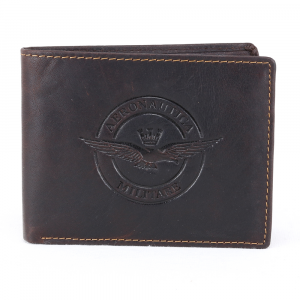 Man wallet Aeronautica Militare EAGLE AM-122 T. MORO