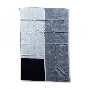 Beach towel pure cotton terry Carrara STREET grey
