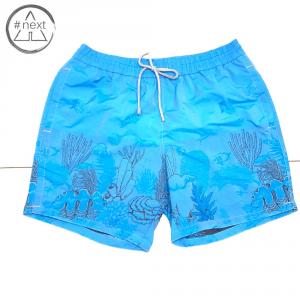 Zeybra Portofino 1962 - Boxer mare Hawaii jacquard azzurro