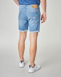 Bermuda jeans lavaggio bleach