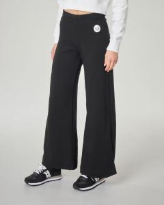 Pantaloni nera in felpa con spacchi laterali