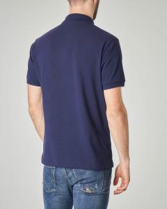 Polo blu con taschino