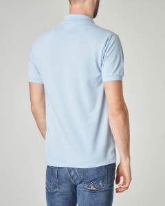 Polo azzurra con taschino