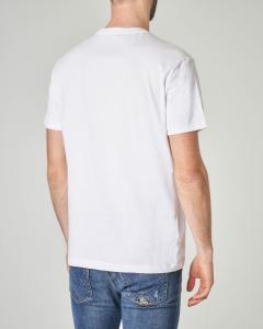 T-shirt bianca con logo e bandiera USA