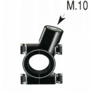 SUPPORTO SPECCHIO AL MANUBRIO D.22 FILETTO M.10 P.1.25 PER MOTO  F1432