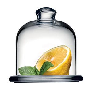Piatto in vetro per dolci e frutta con campana cm.10,5h diam.10