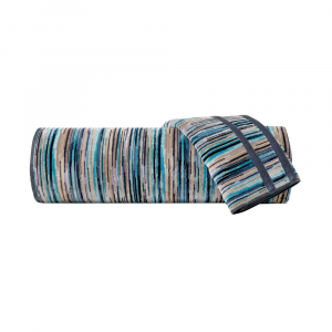 Set Asciugamani Missoni 1 asciugamano + 1 ospite RONAN 170 bluette
