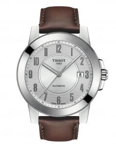 Orologio Tissot Uomo Gentleman Swissmatic, cassa Acciaio e cinturino in pelle T098.407.16.032.00