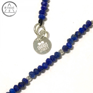 Dandy Street - Bracciale pietre Lapis blu e Argento Ag925.