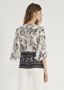 Blusa donna GAUDì con stampa paisley