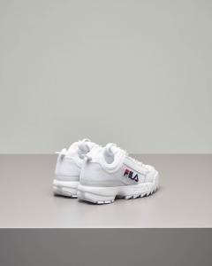 Sneaker Fila Disruptor bianca con patches