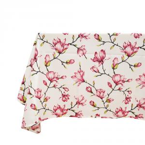 Tovaglia x 6 persone 140x180 cm con tovaglioli FLOREALE rosa stampa digitale