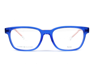 Tommy Hilfiger - Occhiale da Vista Bambino, Matte Blue/Red TH 1427 Y5J  C50
