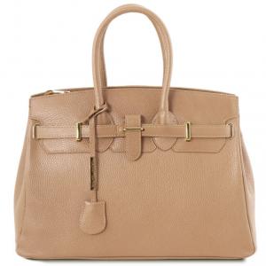 Tuscany Leather TL141529 TL Bag - Borsa a mano media con accessori oro Champagne
