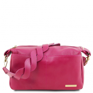 Tuscany Leather TL141746 TL Bag - Bauletto in pelle morbida Magenta