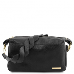 Tuscany Leather TL141746 TL Bag - Bauletto in pelle morbida Nero