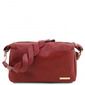 Tuscany Leather TL141746 TL Bag - Bauletto in pelle morbida Rosso