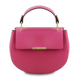 Tuscany Leather TL141817 Luna - Borsa a mano in pelle Magenta