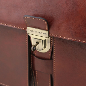 Tuscany Leather TL141825 Assisi - Cartella in pelle 3 scomparti Miele