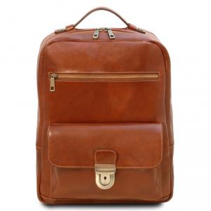 Tuscany Leather TL141859 Kyoto - Zaino porta notebook in pelle Miele