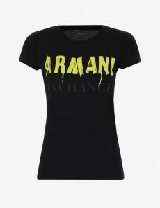T-shirt donna ARMANI EXCHANGE con scritta graffiti