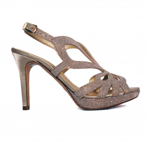 Sandalo elegante platino Melluso