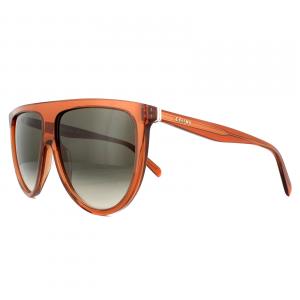 Céline - Occhiale da Sole Donna, Thin Shadow, Dark Orange/Brown Shaded 41435/S  EFB/Z3  C61