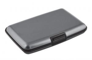 Portabiglietti alluminio grigio scuro cm.11x7x2h