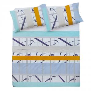Set lenzuola per letto piazza e mezza FRANCESE puro cotone FASCE