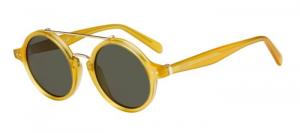 Céline - Occhiale da Sole Donna, Thin Ella, Matte Yellow/Grey Shaded 41436/S  PD9/70  C47