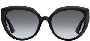 Christian Dior - Occhiale da Sole Donna, Matte Black/Grey Shaded D DIOR F 807/1I  C56