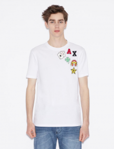 T-shirt uomo ARMANI EXCHANGE con icone stampate
