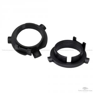 H7 Led Kit 2 Pezzi Montaggio Portalampada Base Lampadina Clips Adattatore Per Conversione A Lampade Led Senza Modifica Compatibile Vari Modelli Auto Materiale Abs Di Alta Qualità