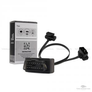 Super Mini Elm 327 Wifi Obd2 Diagnosi Auto Obdii1.5 Scanner Ios Android Windows E Cavo Piatto Prolunga Connettori Maschio E Femmina Estensione 16 Pin Diagnostica Veicoli Obd2 Connessione Wifi