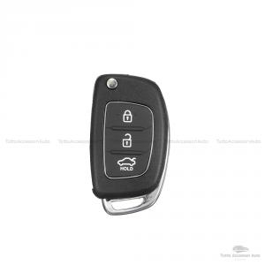 Scocca Guscio E Lama Di Ricambio Chiave Telecomando 3 Tasti Auto Hyundai I20 I30 I40 Ix20 Ix35 Ix45 Ix55 Tucson Santa Fe Elantra Accent 3 Pulsanti Tasto Portabagagli Hold E Slot Batteria