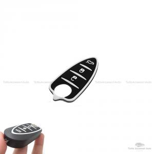 Gommmino 3 Tasti Pad Tastiera Con Pulsanti In Gomma Per Guscio Scocca Telecomando Chiave 3 Tasti Autovetture Alfa Romeo Mito Gto 159 Brera Giulietta Colore Nero Con Inserti Bianchi