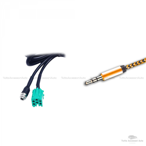 Cavo Aux Universale Ingresso Jack Femmina 3,5 Mm Adattatore Audio Per Renault Clio Megane Modus Scenic Twingo Autoradio Update List + Kit Estrazione + Cavo Besync Nylon Oro Smartphone Lettore Mp3