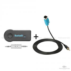Cavo Aux Autoradio Alpine Kce-236B + Dispositivo Ricevitore Bluetooth Con Microfono Incorporato Chiamata Vivavoce Per Smartphone Iphone Mp3