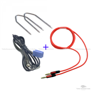 Cavo Aux Audio Jack Femmina Auto Fiat Lancia Autoradio Delphi Grundig Bosch ScrittaNo Source Available No Blue&Me + Kit Estrazione + Cavo Audio Jack Maschio 3,5Mm Mp3 Smartphone