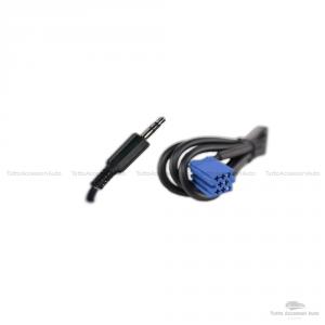 Cavo Aux Audio In Jack Maschio Delphi Grundig Bosch ScrittaNo Source Available No Blue&Me + Dispositivo Ricevitore Bluetooth Microfono Chiamata Vivavoce Smartphone