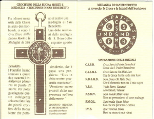 Rosario in legno S. Benedetto con moschettone
