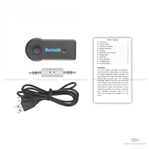 Cavo Aux Audio In Jack Femmina Delphi Grundig Bosch Con ScrittaNo Source Available No Blue&Me + Dispositivo Ricevitore Bluetooth Microfono Incorporato Chiamata Vivavoce Smartphone