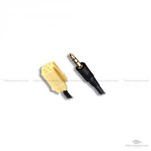 Cavo Aux Audio Adattatore Autoradio Stereo Fiat Alfa Romeo Lancia Jack Maschio 150 Cm + Dispositivo Ricevitore Bluetooth Con Microfono Incorporato Chiamata Vivavoce Smartphone Mp3