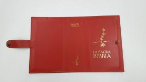 Copri Bibbia per Edizioni San Paolo in vero cuoio
