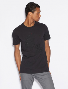 T-shirt uomo ARMANI EXCHANGE con drago ricamato