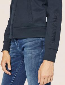 Felpa donna ARMANI EXCHANGE con zip lunga e cappuccio