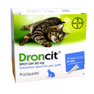 DRONCIT SPOT-ON CONTRO I PARASSITI INTESTINALI GATTO