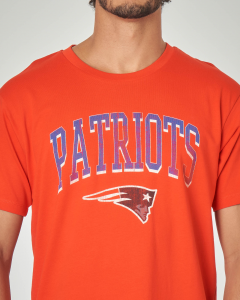 T-shirt rossa con stampa football