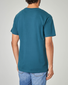 T-shirt verde con stampa football