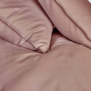 Completo lenzuola matrimoniale 2 piazze in raso CHEVRON rosa